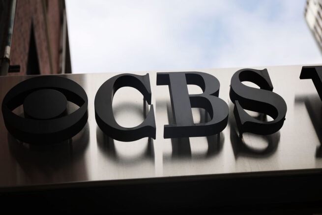 "NEW YORK, NY - SEPTEMBER 13: The CBS Broadcast Center stands in Manhattan on September 13, 2018 in New York City. The popular television network has been under scrutiny since allegations of sexual misconduct forced out Jeff Fager, the longtime executive producer of ""60 Minutes"", and chairman and chief executive of CBS Les Moonves. (Photo by Spencer Platt/Getty Images)"