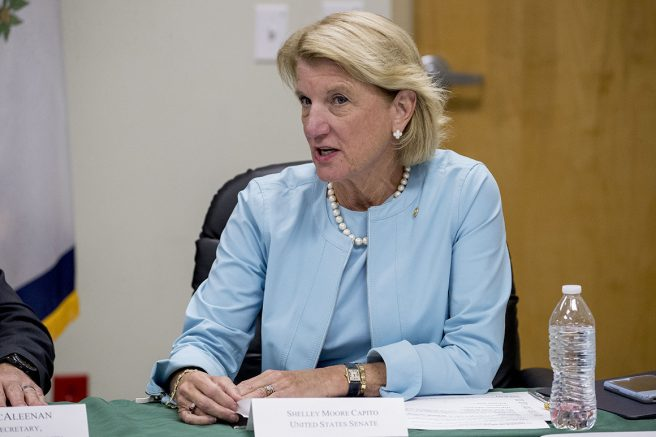 Sen. Shelley Moore Capito (R-W.Va.) | Andrew Harnik/AP Photo