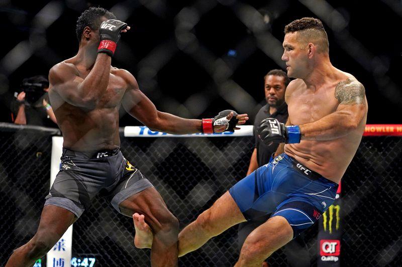 FILE PHOTO: MMA: UFC 261-Hall vs Weidman