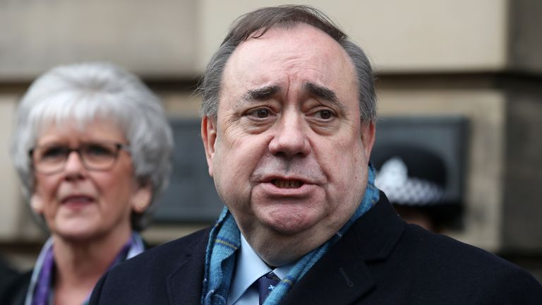 Scotland's former first minister Alex Salmond