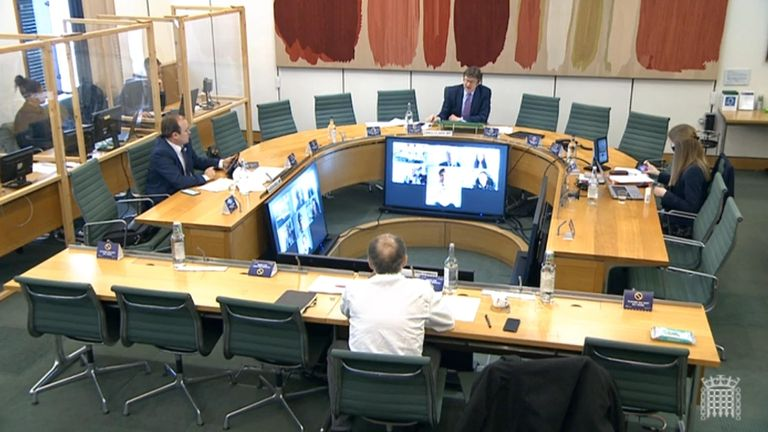 Dominic Cummings giving speaking at the Commons Science and Technology Committee
