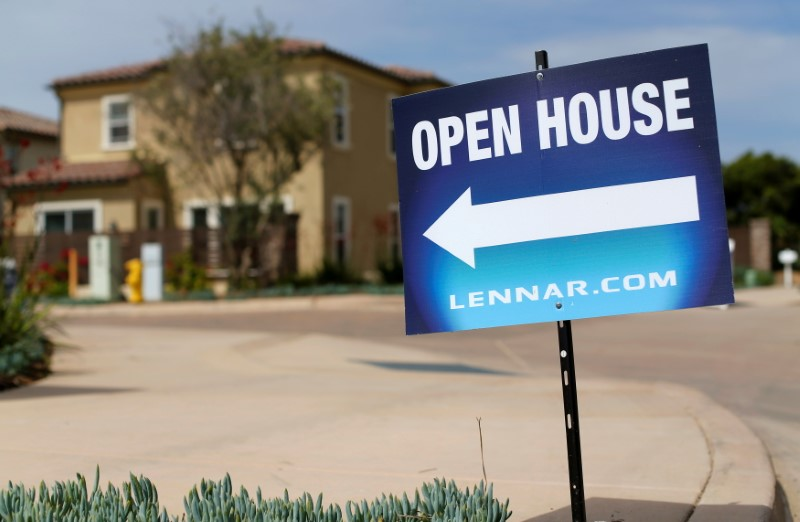 FILE PHOTO: Newly constructed houses built by Lennar Corp are pictured in Leucadia, California
