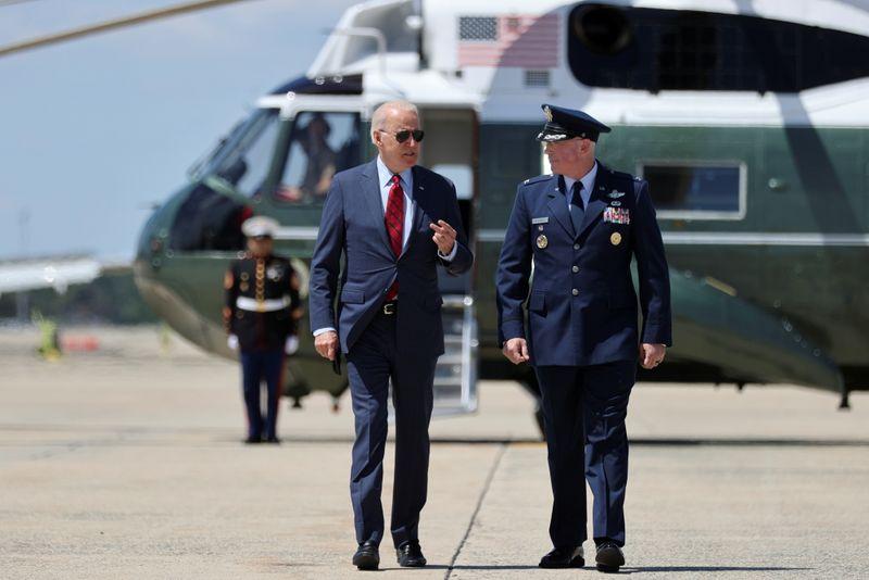U.S. President Biden travels to North Carolina from Maryland