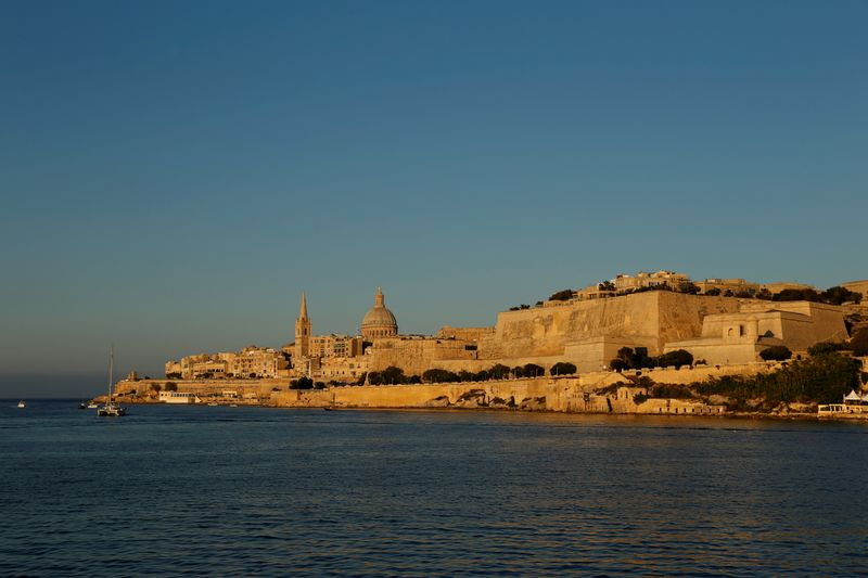 A general view of Valletta