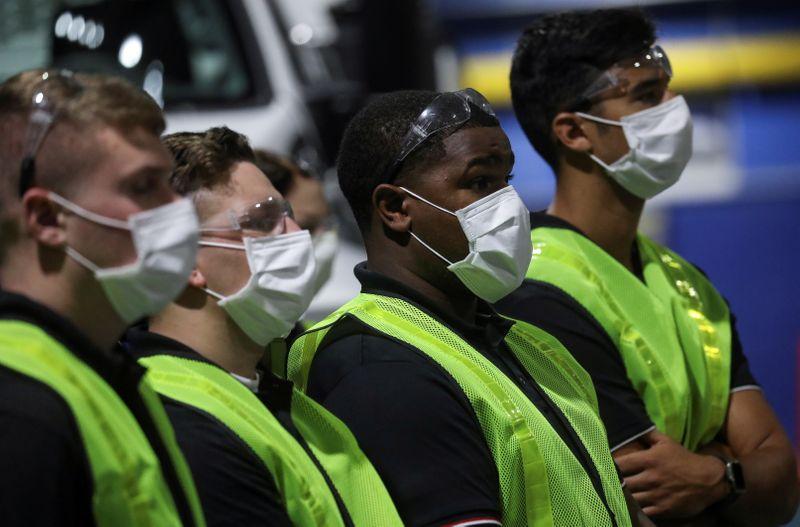 FILE PHOTO: U.S. President Trump visits Ford Rawsonville Components Plant in Ypsilanti, Michigan