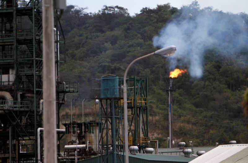 A view shows the Ecuador's state-run Esmeraldas refinery complex in Esmeraldas