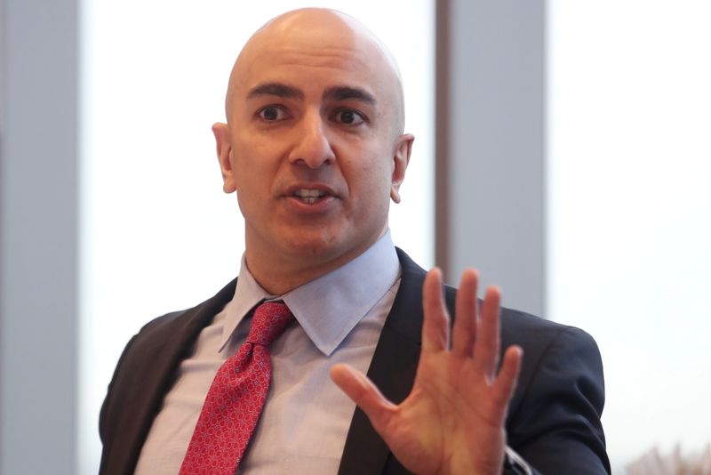 FILE PHOTO: President of the Federal Reserve Bank of Minneapolis Neel Kashkari speaks during an interview in New York