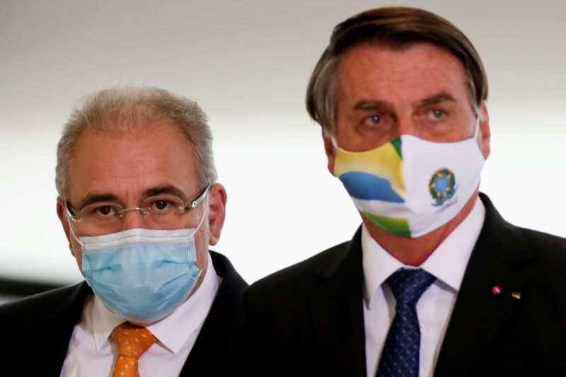 FILE PHOTO: Ceremony of release of resources for Primary Health Care in combat of COVID-19 in Brasilia