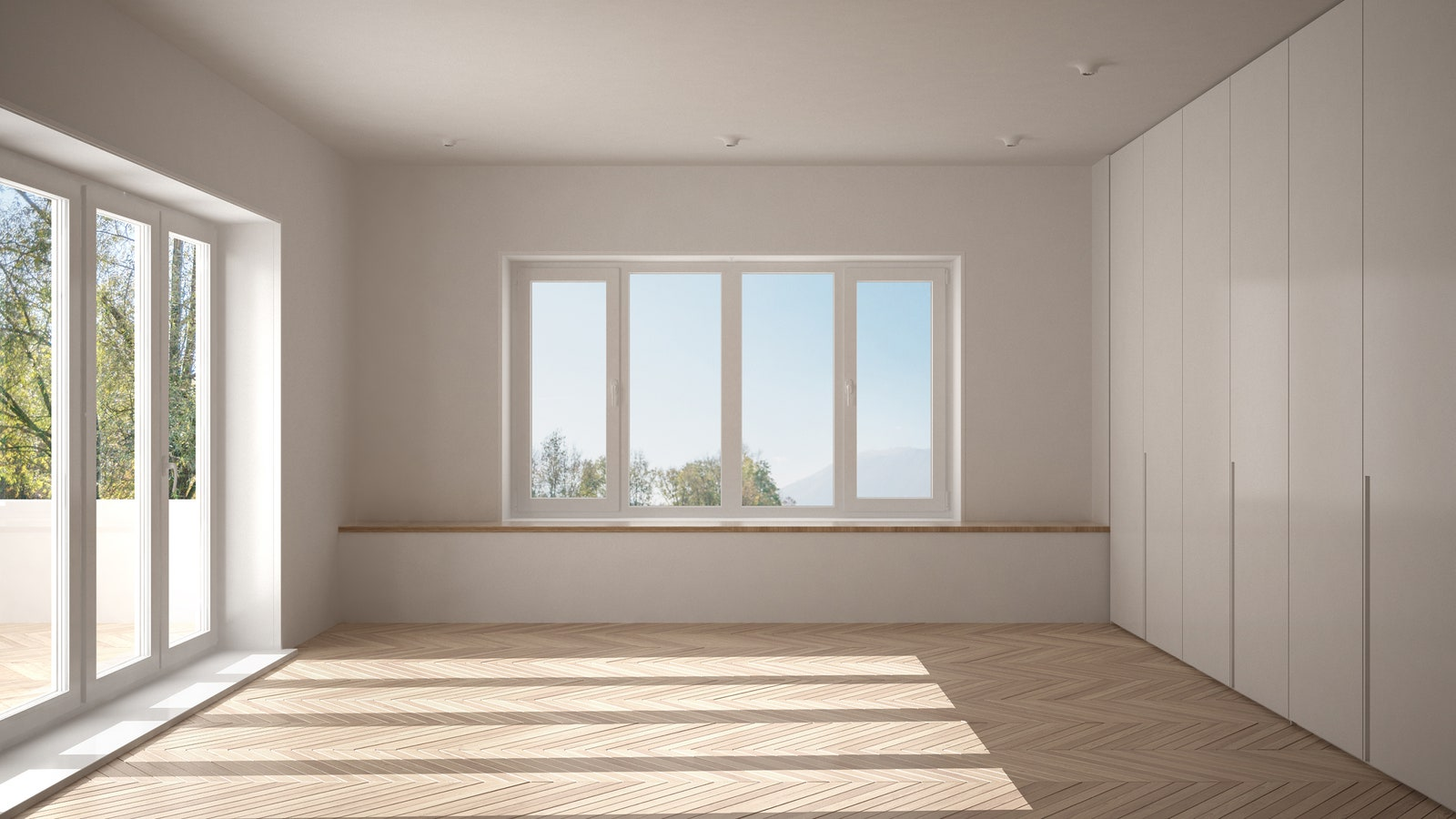 An empty home.