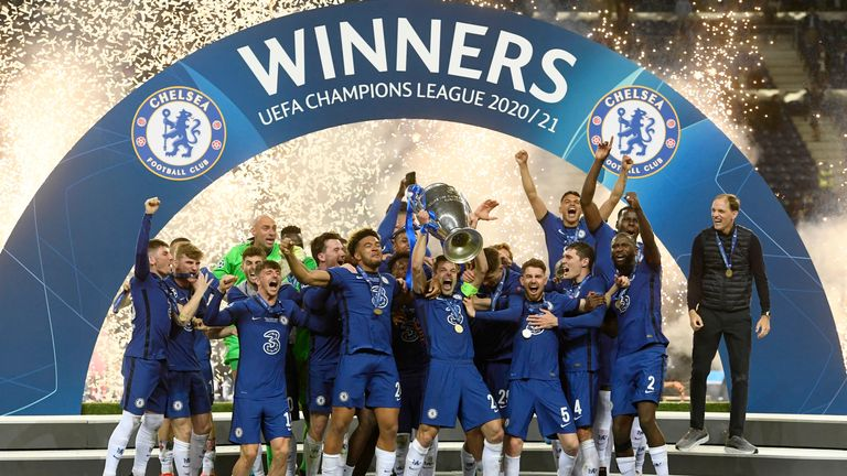 Chelsea have won the Champions League for a second time. Pic: AP