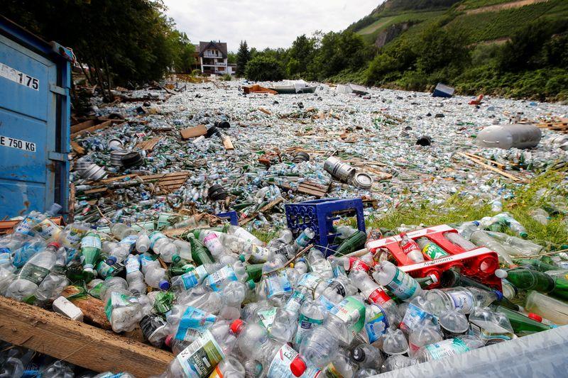 Trash is pictured following heavy rainfalls in Bad Neuenahr-Ahrweiler