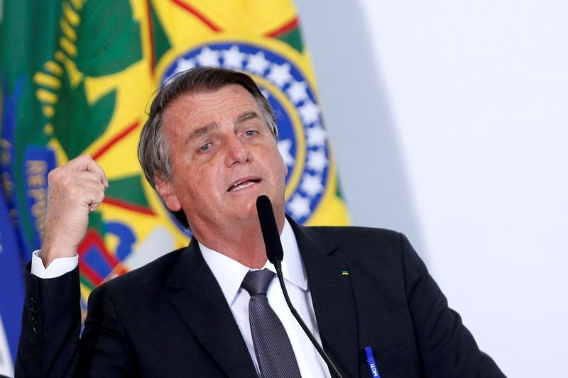 FILE PHOTO: FILE PHOTO: Brazil's President Bolsonaro signs law to allow for privatization of Eletrobras