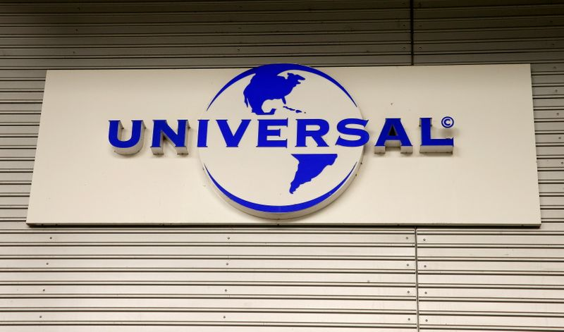 FILE PHOTO: Logo of Universal Music Group is seen at a building in Zurich