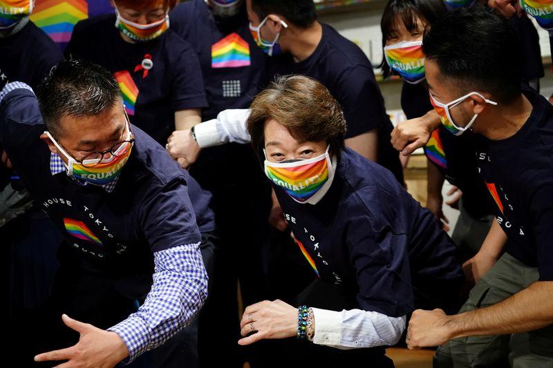 FILE PHOTO: Tokyo 2020 President Seiko Hashimoto visits Pride House Tokyo Legacy