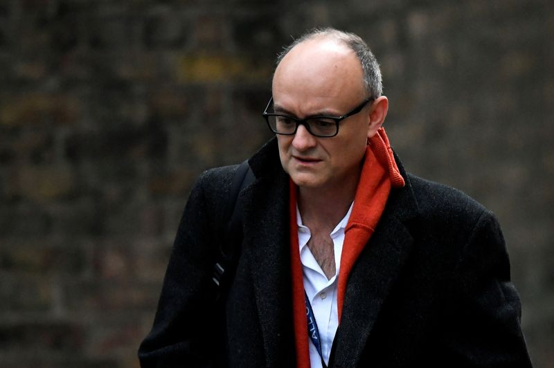 FILE PHOTO: Dominic Cummings, former special advisor for Britain's Prime Minister Boris Johnson, arrives at Downing Street, in London