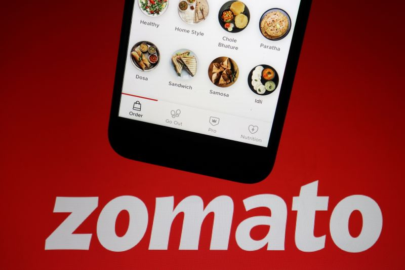 FILE PHOTO: Illustration picture of Indian food delivery company Zomato