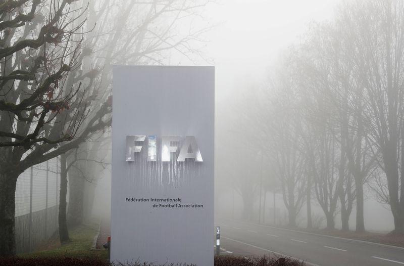 FILE PHOTO: FIFA's logo is seen in Zurich