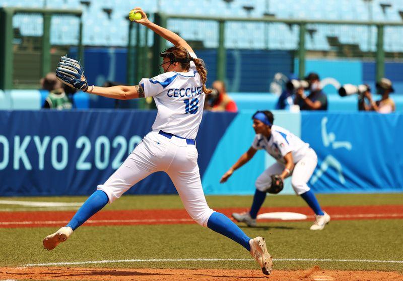 Softball - Women - Opening Round - Italy v United States