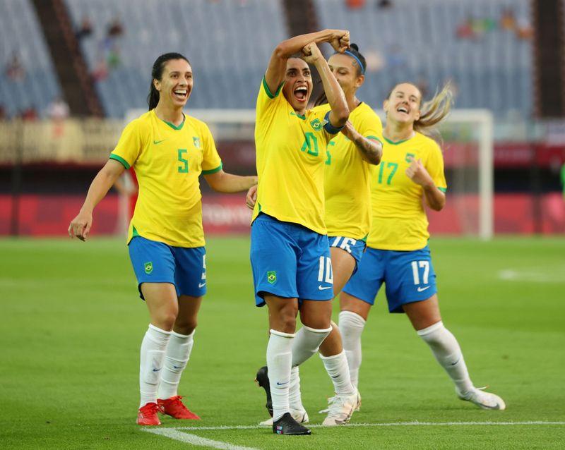Soccer Football - Women - Group F - China v Brazil