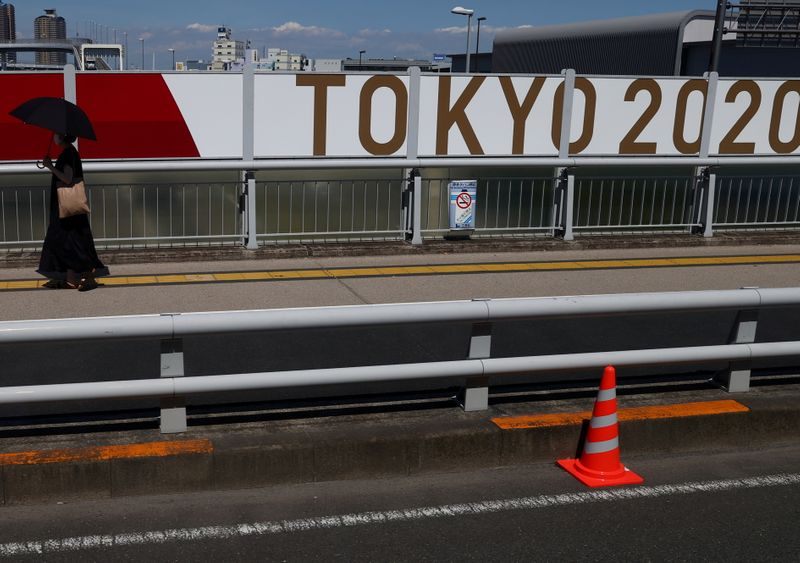 Scenes ahead of the Tokyo 2020 Olympic Games in Tokyo