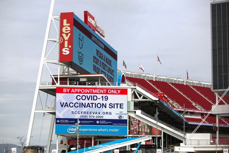 People are inoculated against the coronavirus disease (COVID-19) in Santa Clara