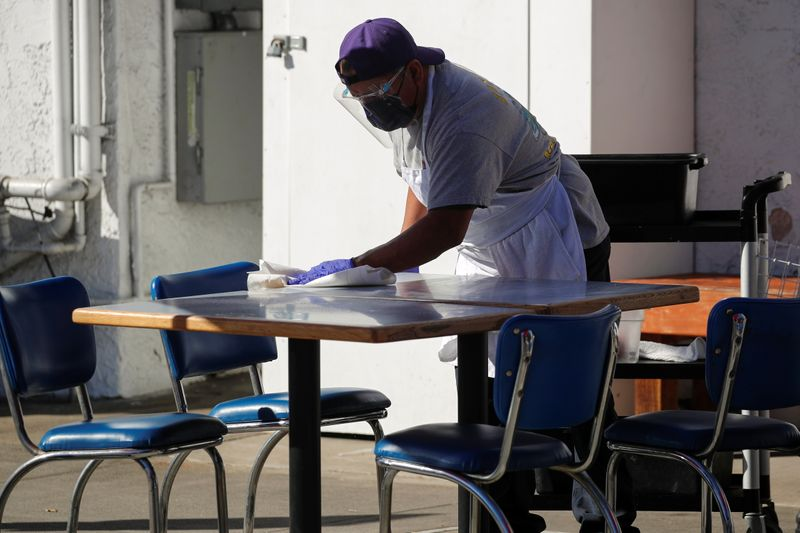 Restaurant remains open defying Los Angeles County's new restrictions due to the coronavirus outbreak.