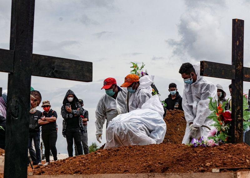 FILE PHOTO: COVID-19 cases surge in Jayapura, Indonesia