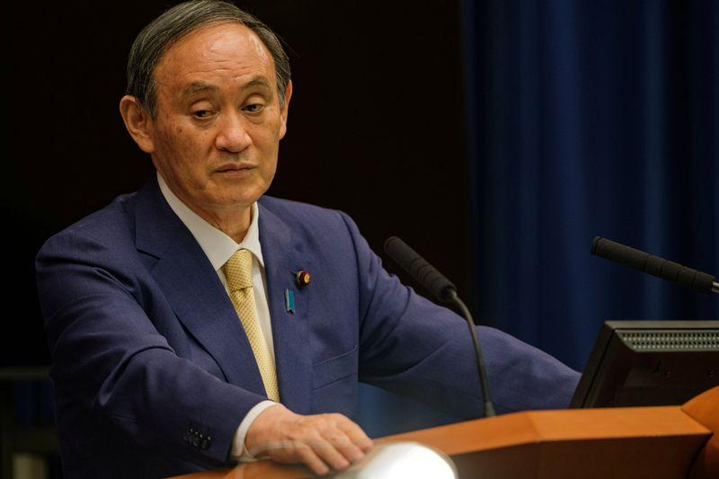 FILE PHOTO: Japan's PM Suga's news conference on a new coronavirus state of emergency in Tokyo