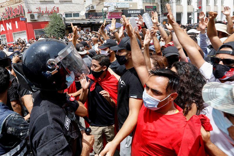 Anti-government protest in Tunis