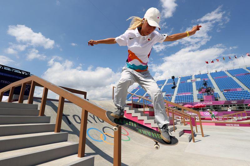 Skateboarding Training Session