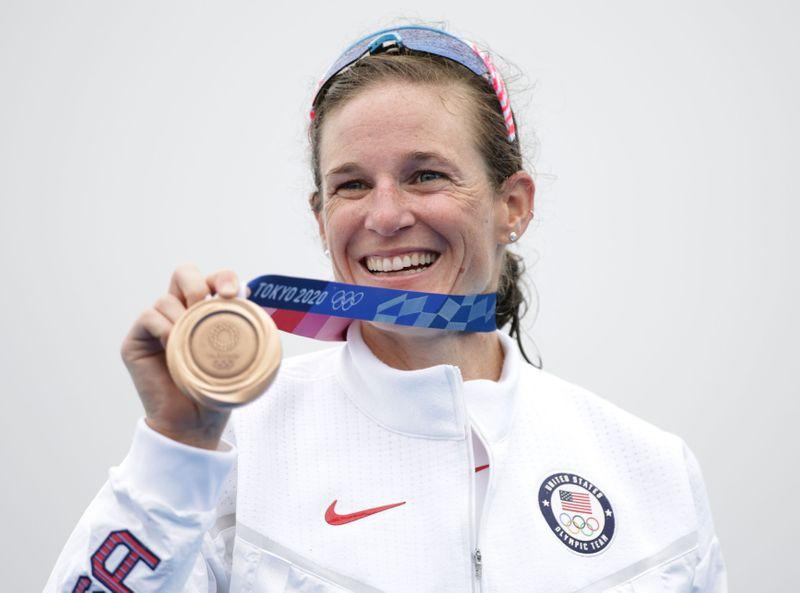 Triathlon - Women's Olympic Distance - Medal Ceremony
