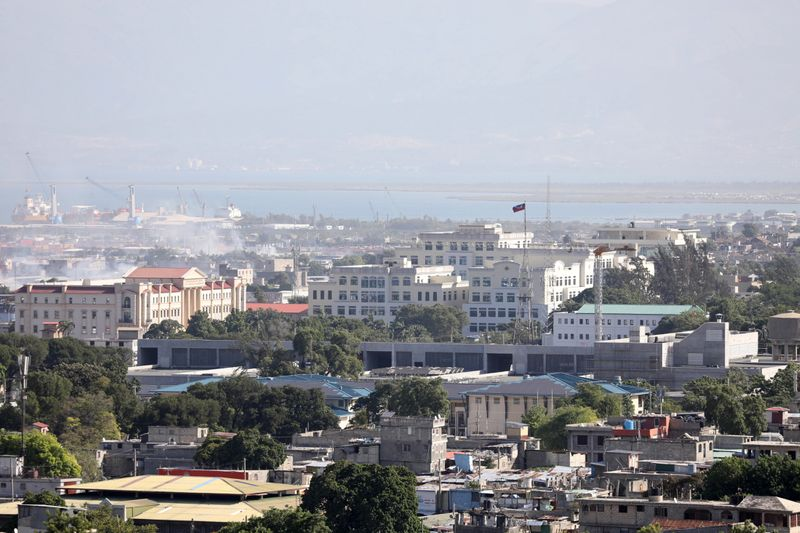 FILE PHOTO: A view of the area around Champs de Mar near the presidential palace, in Port-au-Prince