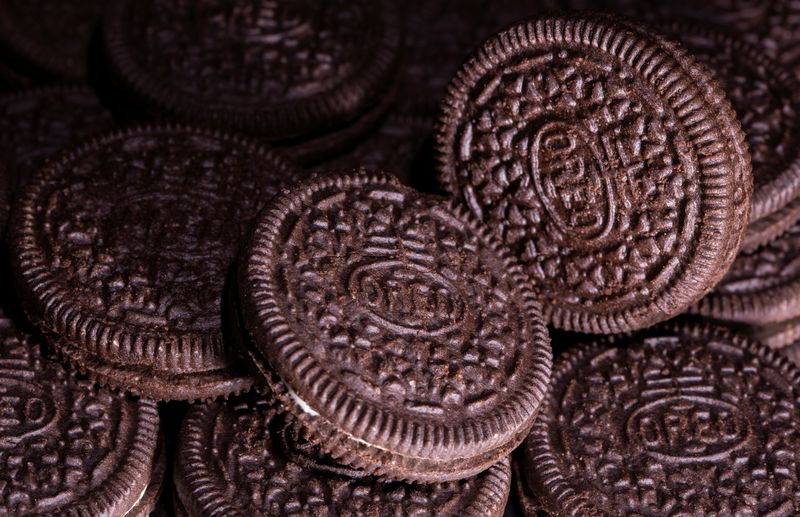 FILE PHOTO: Mondelez International's Oreo biscuits are seen in this illustration picture