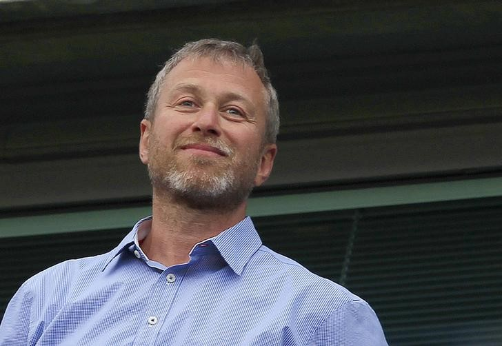 FILE PHOTO: Chelsea owner Roman Abramovich watches the players do a lap of honour after their English Premier League soccer match against Blackburn Rovers in London