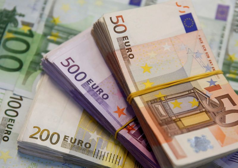 FILE PHOTO: A picture illustration shows Euro banknotes in Zenica