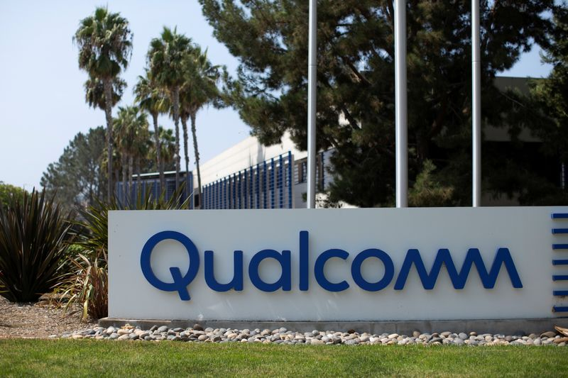 FILE PHOTO: Qualcomm building shown in San Diego