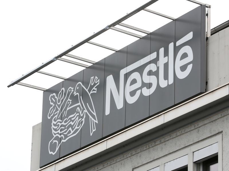 Logo of Nestle is seen in Konolfingen