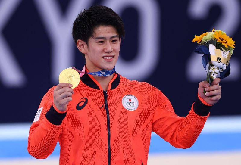 Gymnastics - Artistic - Men's Individual All-Around - Medal Ceremony