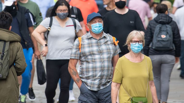 Face masks won't be a legal requirement when England's restrictions end, Boris Johnson has announced