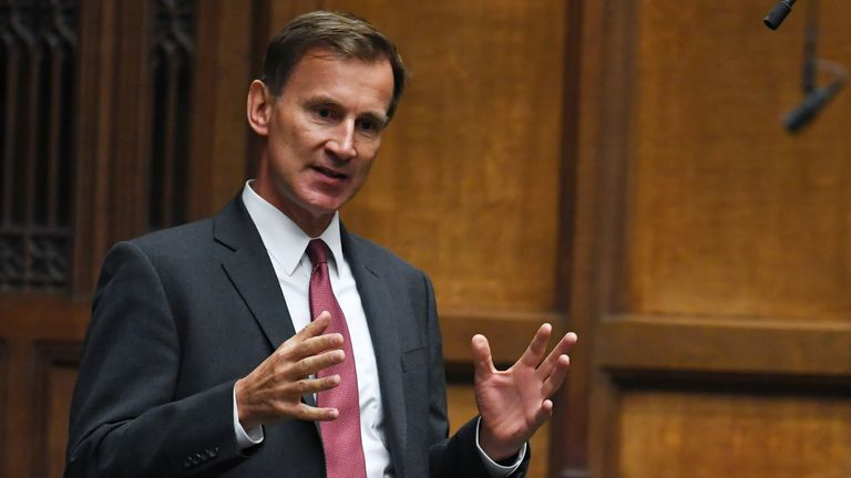 Jeremy Hunt has called for action on the standard of masks worn in shops and on public transport. Pic: UK Parliament/Jessica Taylor