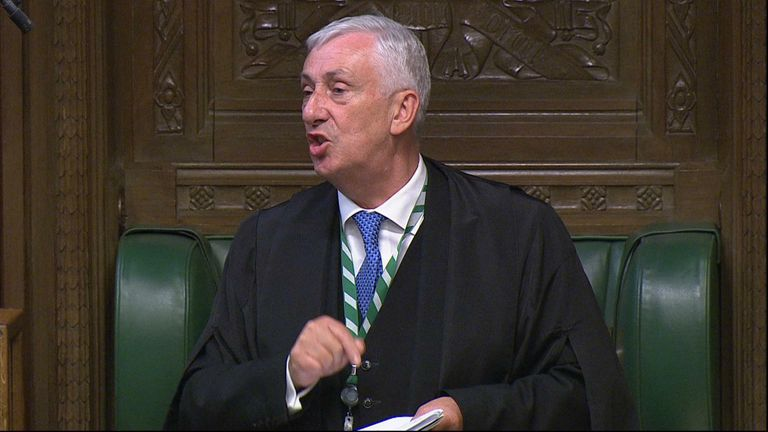 Speaker of the House of Commons Lindsay Hoyle angrily reprimands Downing Street for giving a COVID-19 press conference before addressing MPs